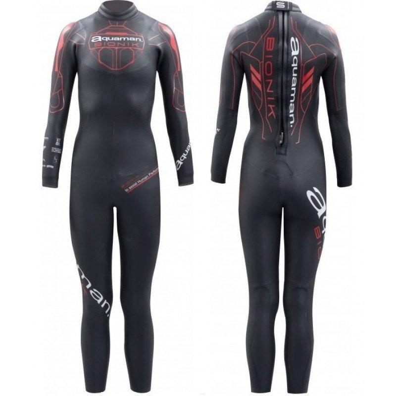 combinaison de triathlon néoprène pour femmes aquaman bionik lady 2018