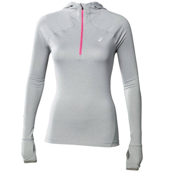 W ASICS MAILLOT MANCHES LONGUES HOODIE G/P