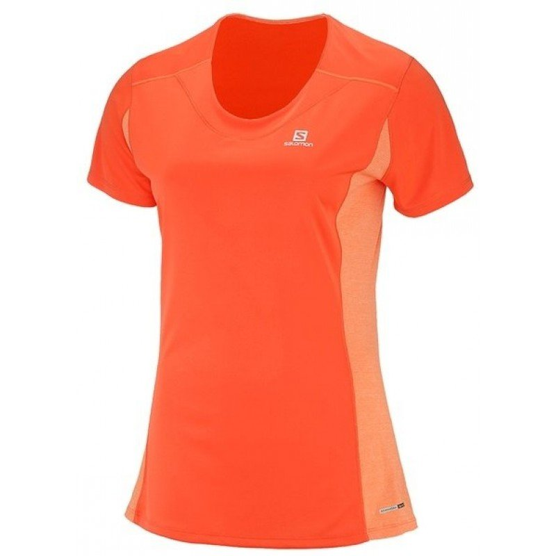 tee shirt de running pour femmes salomon heather tee l402157
