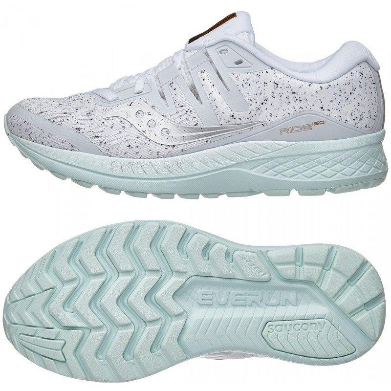 chaussures de running Saucony Ride 10 White femme