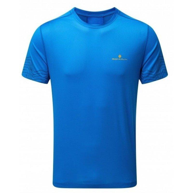 tee de running pour hommes ronhill stride blue