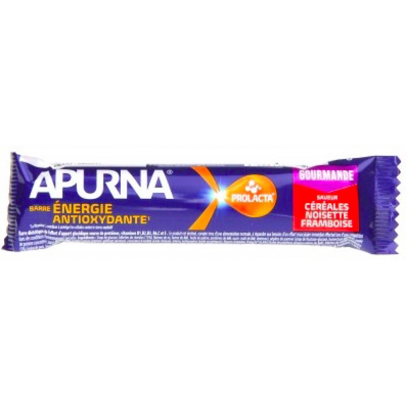 Apurna Barre Énergie Antioxydante Noisette Framboise