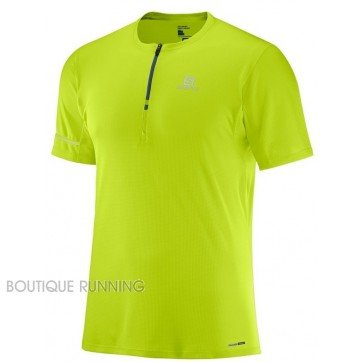 tee shirt de running pour hommes salomon agile hz ss tee acid lime