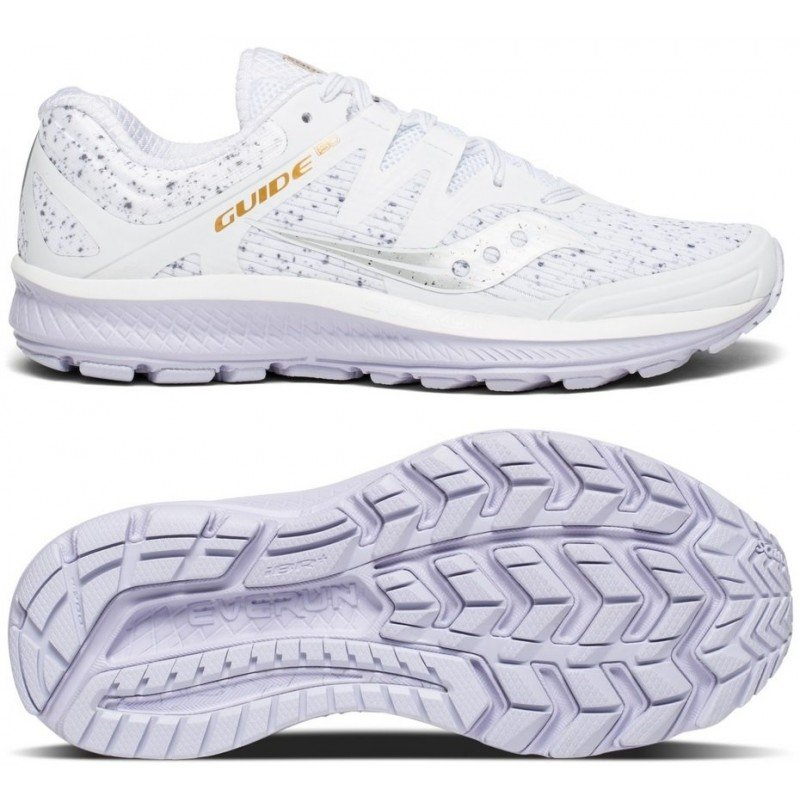 chaussures de running Saucony Guide Iso White femme