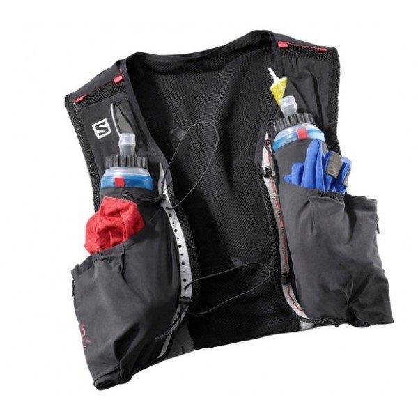 SALOMON Bag S/LAB SENSE ULTRA 5 SET Black/RD L39381500