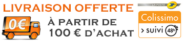 Livraison offerte à partir de 100 € d'achat