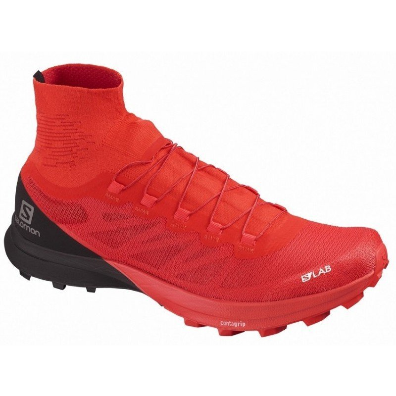 chaussure de trail running pour hommes salomon s lab sense 8 sg racing red / black / white 407516