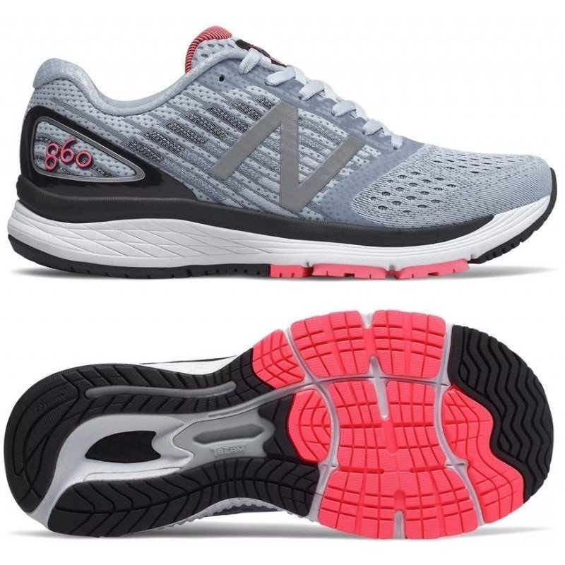 chaussures de running New Balance W 860 v9 w860bp9 ice blue with pink zing