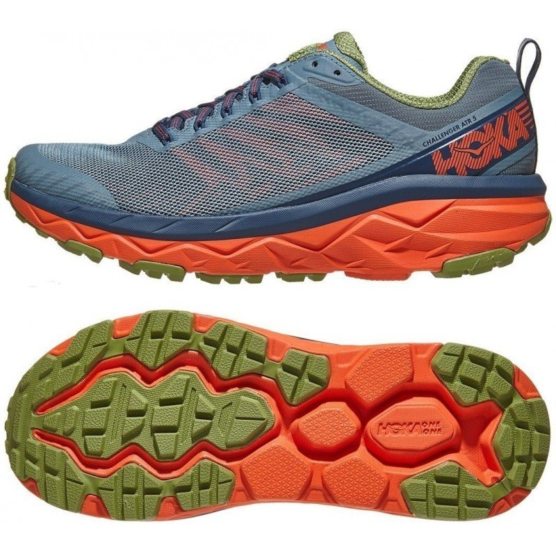 chaussures de running route et chemin pour hommes hoka challenger atr 5 1104093 swmoc stormy