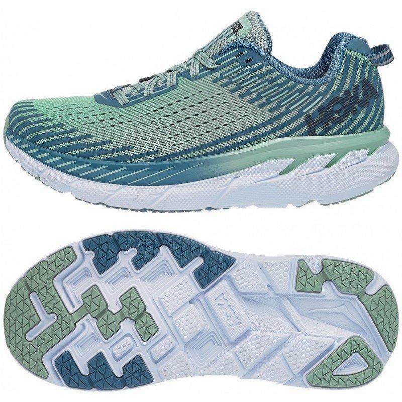 chaussure de running pour femme hoka clifton 1093756lsmb lichen / storm blue