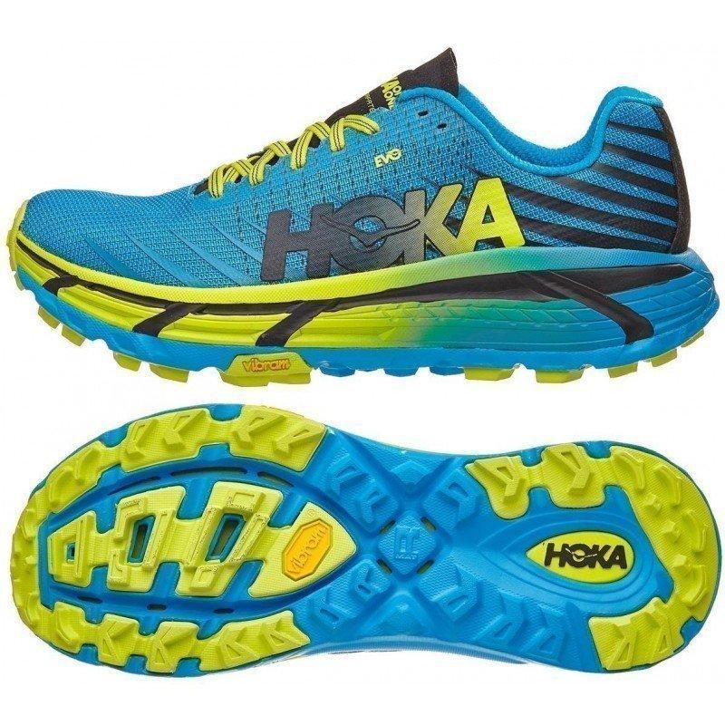 chaussure de trail running hoka evo mafate 1091575cctrs cyan / citrus