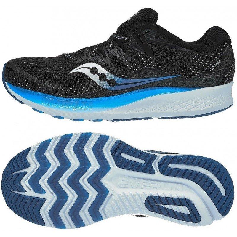 chaussures de running pour hommes saucony ride iso 2 s20514-2 black blue