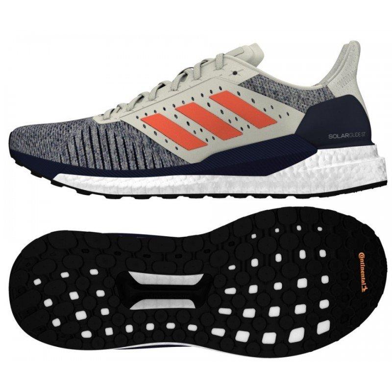 chaussures de running pour hommes adidas solar glide st b96287 raw white / true orange / legend ink