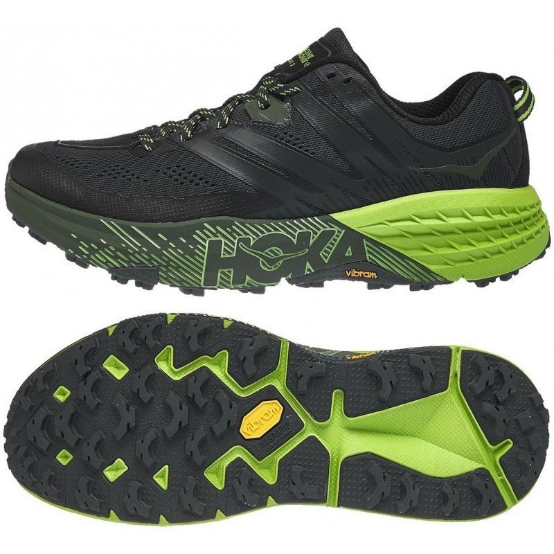 chaussures de trail running pour hommes hoka one one speedgoat 2 1099733 eblc ebony / black