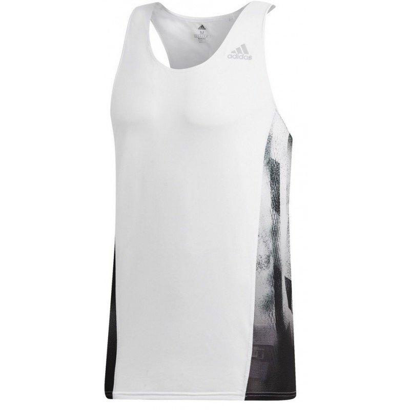 débardeur de running pour hommes adidas sub dq1844 white black