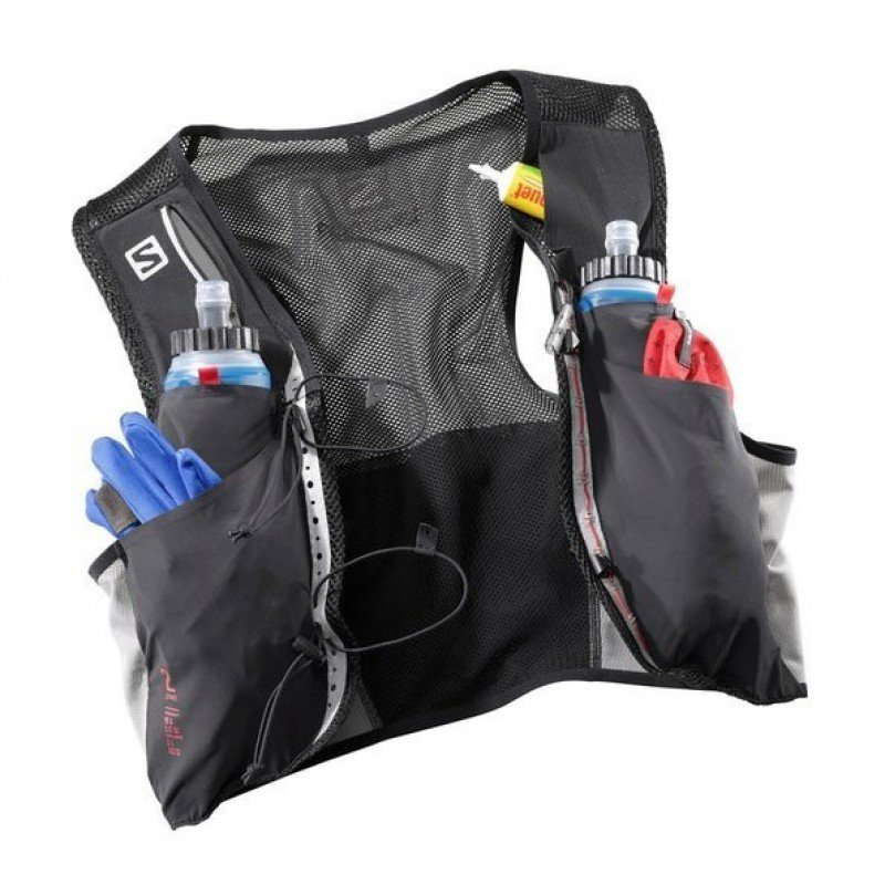 SALOMON Bag S/LAB SENSE 2 SET Black/RACING RED L39381800