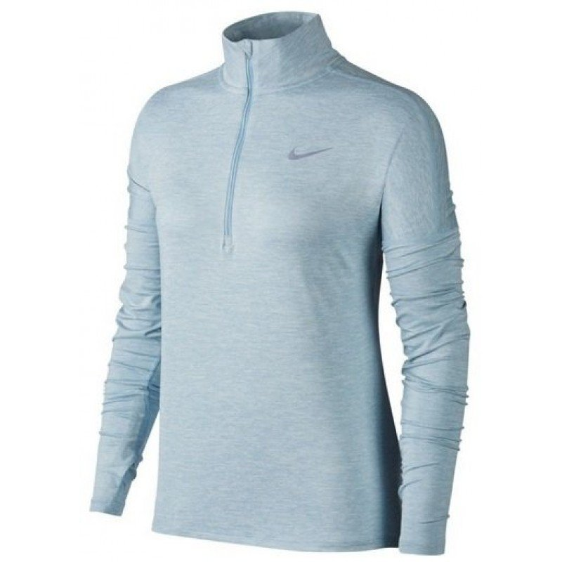 W NIKE POLO 1/2 ZIP ELEMENT
