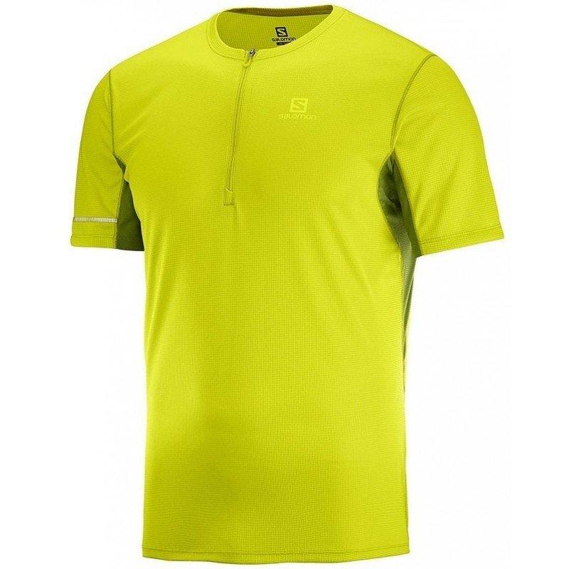 maillot de running pour hommes salomon agile hz ss tee lc106060 citronelle