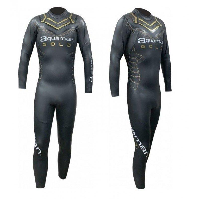Combinaison de triathlon néoprène Aquaman Cell Gold Homme 2020