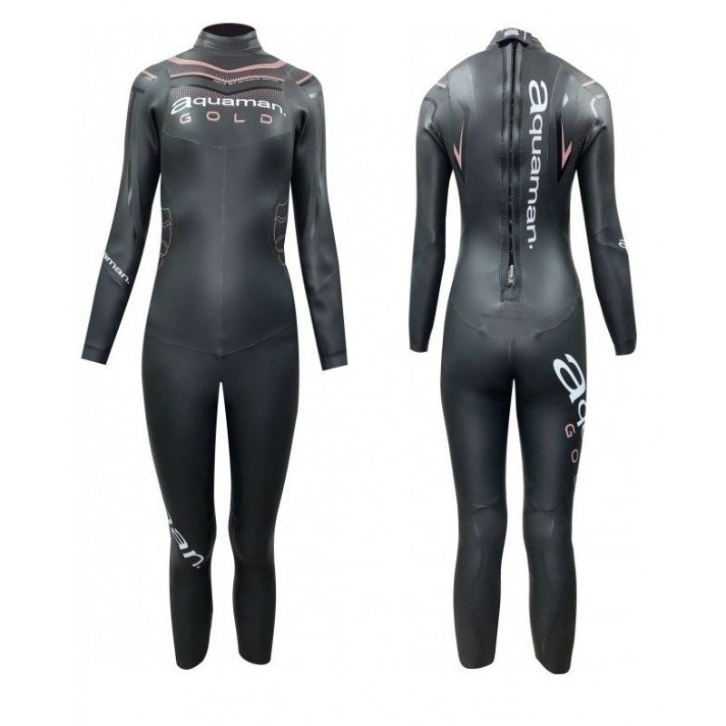 Combinaison de triathlon néoprène Aquaman Cell Gold Lady