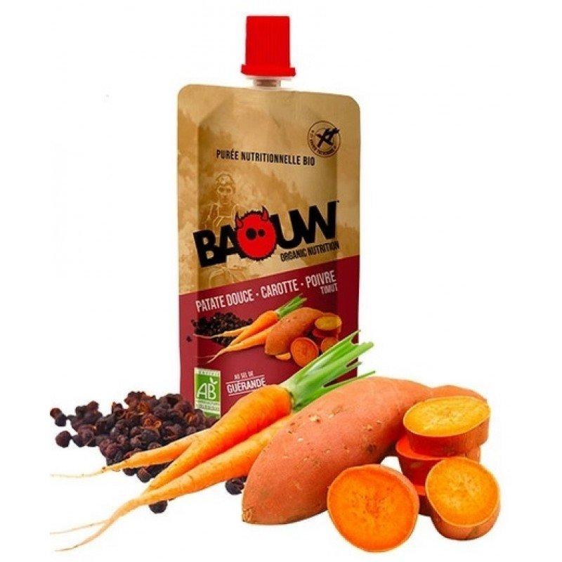 Baouw Compote Energétique Patate Douce-Carotte-Poivre Timut