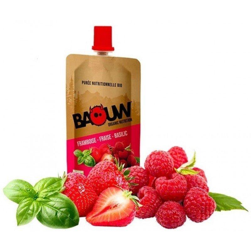 Baouw Compote Energétique Framboise-Fraise-Basilic