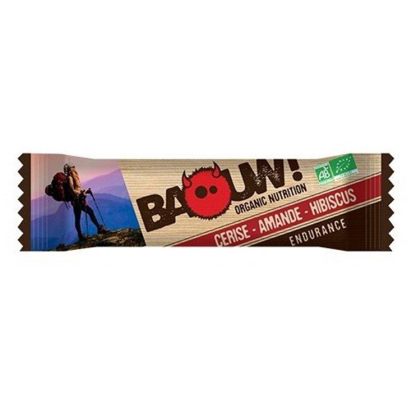barre énergétique BAOUW Barre Cerise - Amande - Hibiscus