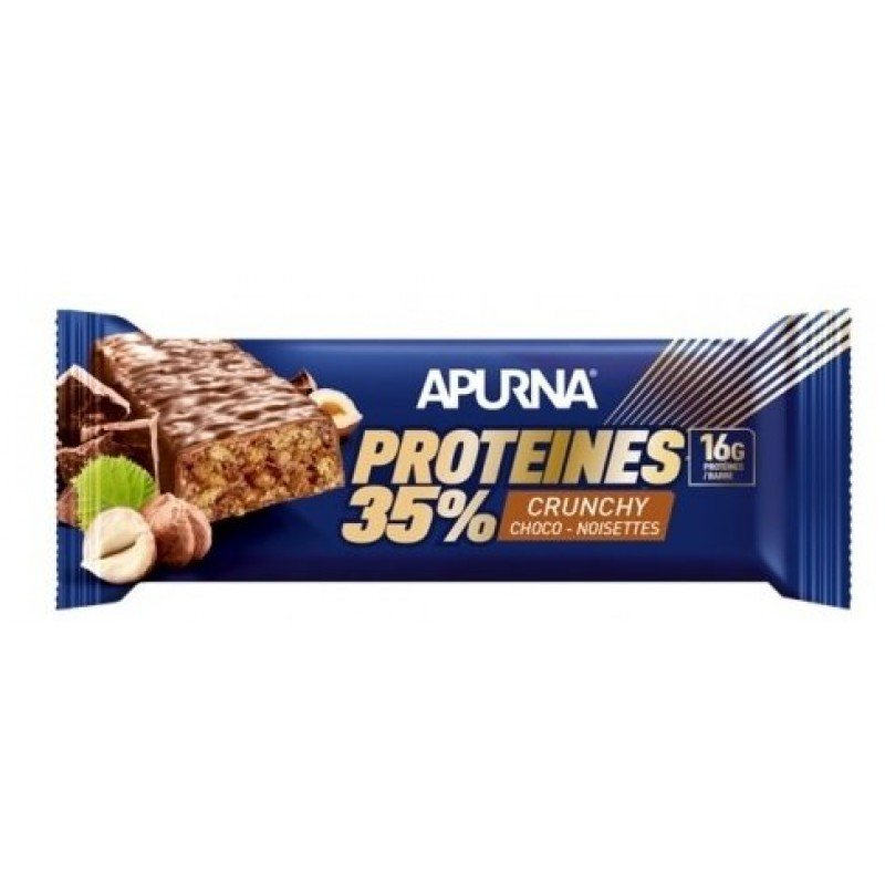 Apurna Barre Protéines 35% Crunchy Chocolat Noisettes