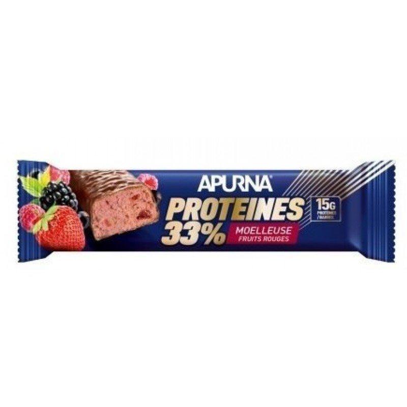 Apurna Barre Protéines 33% Moelleuse Fruits Rouges