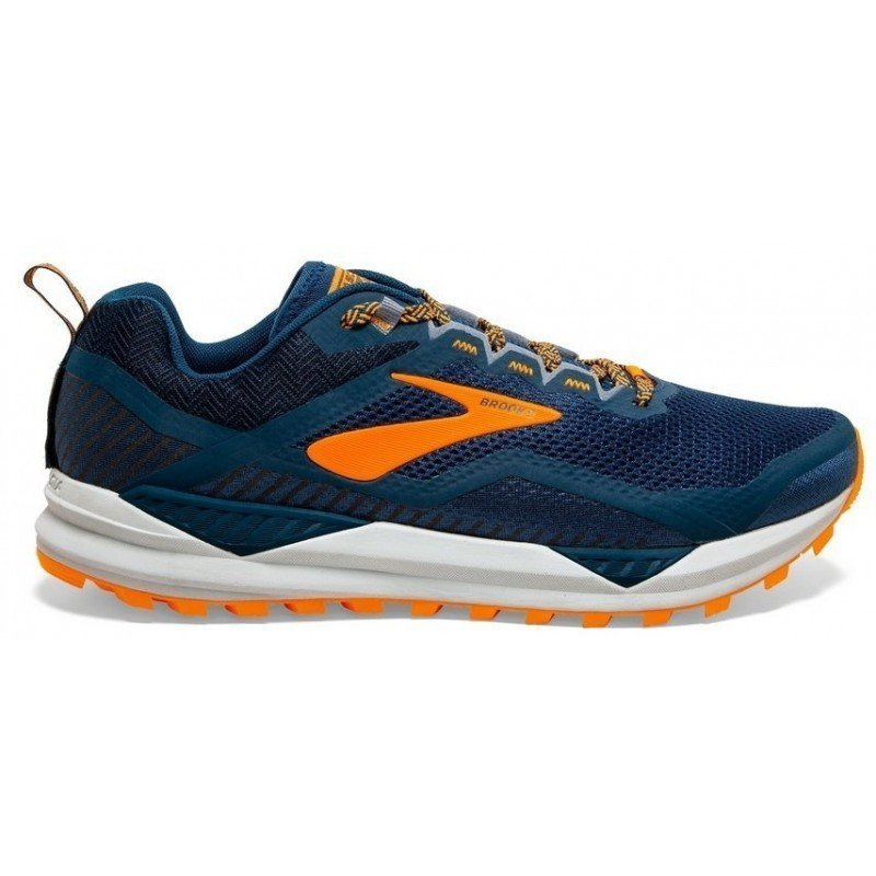 Brooks Cascadia 14 1103101d489 poseidon/orange/grey