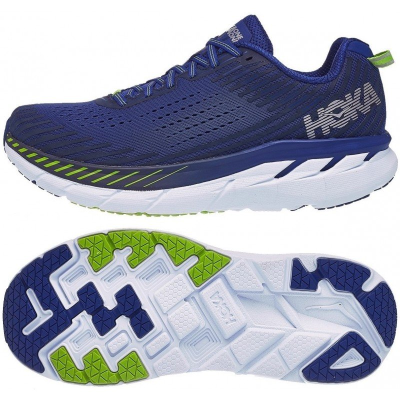 chaussure de running pour homme hoka clifton 5 1093755sbmi sodalite blue / mood indigo