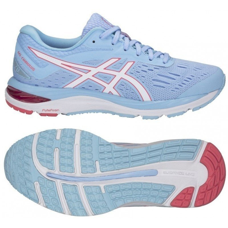 chaussure de running pour femme asics gel cumulus 20 1012a008-402 skylight / white
