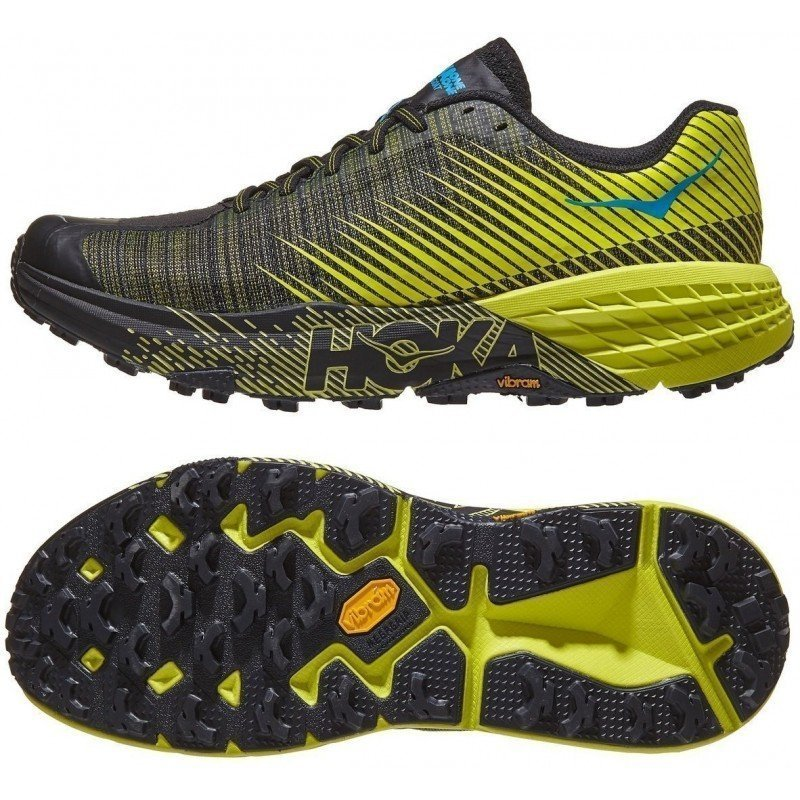chaussures de trail running pour femmes hoka one one evo speedgoat 1111430cib citrus black