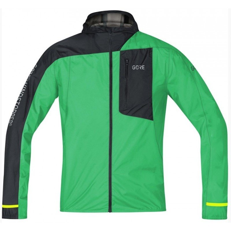 GORE VESTE LIGHT HOODED WINDSTOPPER VERT