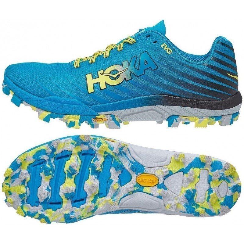 chaussures de trail légères pour hommes hoka evo jawz 1091578 cctrs cyan / citrus
