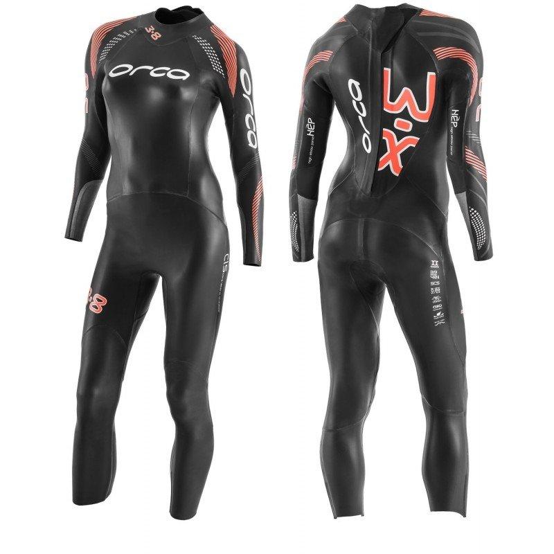 Nouvelle combinaison de triathlon néoprène Orca 3.8 Femme 2020