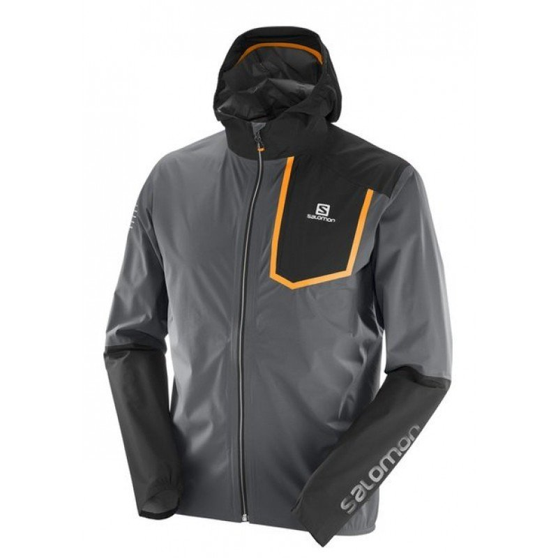 SALOMON BONATTI PRO WP JKT M Forged Iron/Black