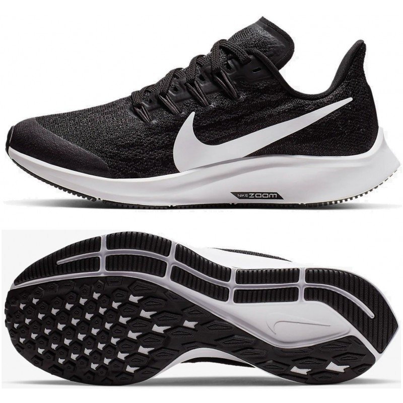Nike air zoom pegasus 36 junior ar4149-001/noir gris orage blanc