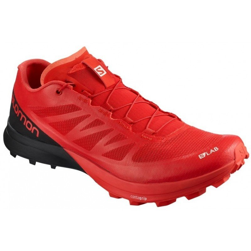 chaussure de trail running pour hommes salomon s lab sense 7 sg racing red / black / white 402260