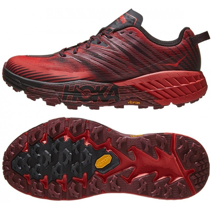 chaussures de trail running pour hommes hoka one one speedgoat 2 1099733gbog bleu galaxy or