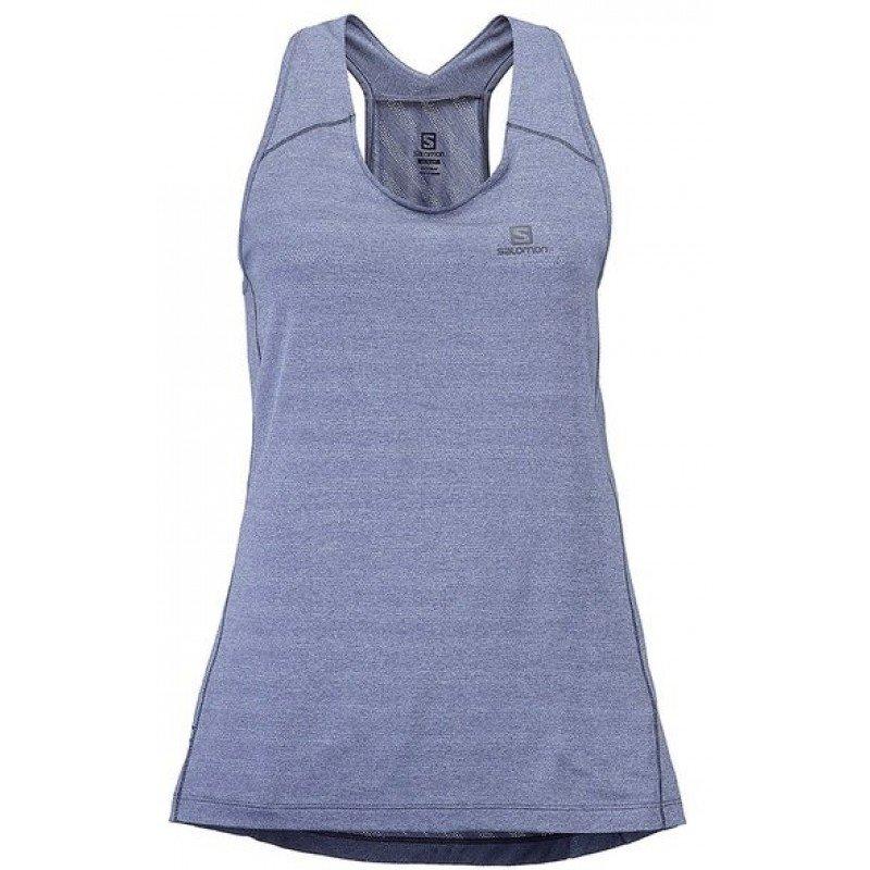 débardeur de running pour femmes salomon xa tank lc102990 lilac gray