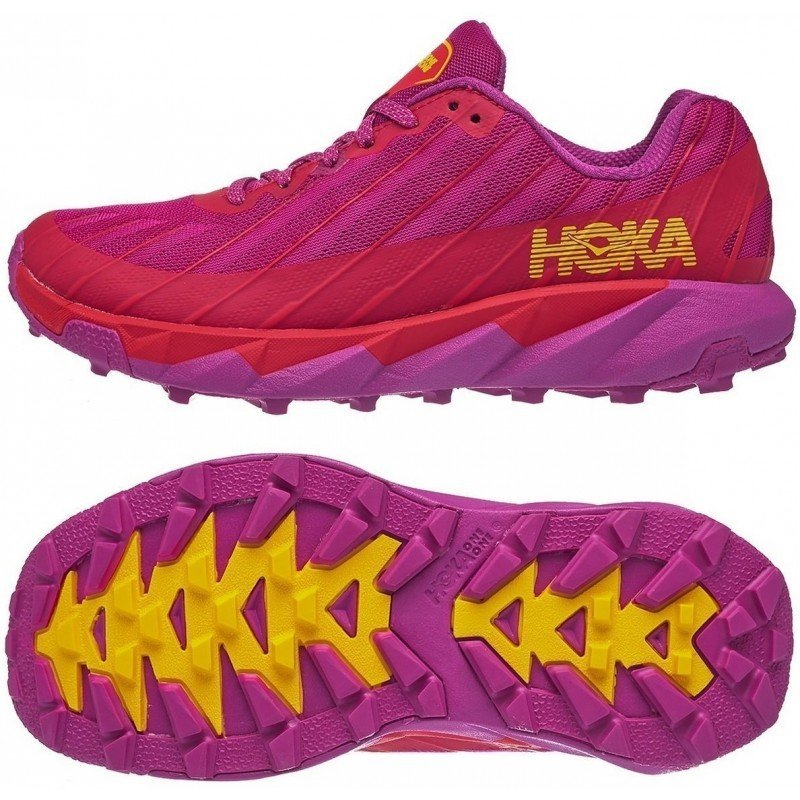 chaussure de running pour femme hoka torrent 1097755 cfpr cactus flower / red