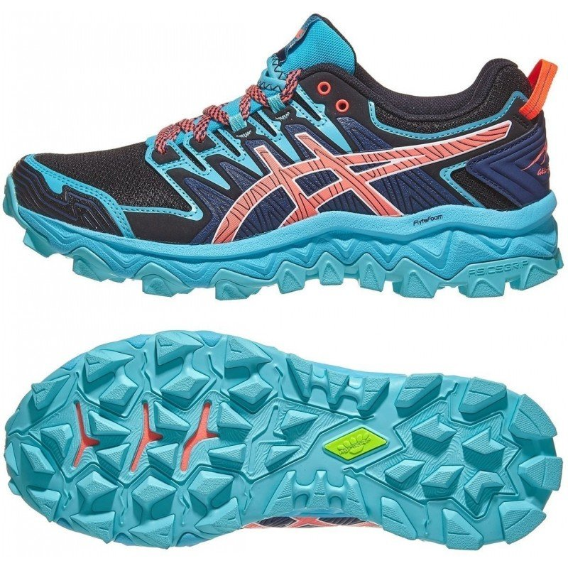 chaussure de trail running asics gel fuji trabuco 7 1012a180-400 aquarium blue