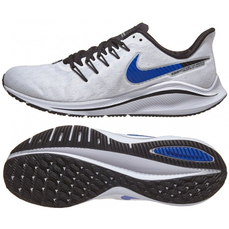 chaussure de running nike air zoom vomero 14 ah7857-101 white race blue