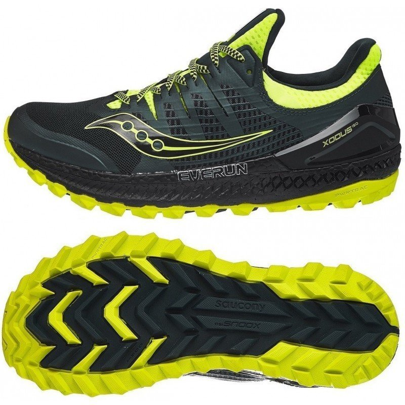 chaussures de trail running pour hommes saucony xodus iso 3 s20449-37 green yellow