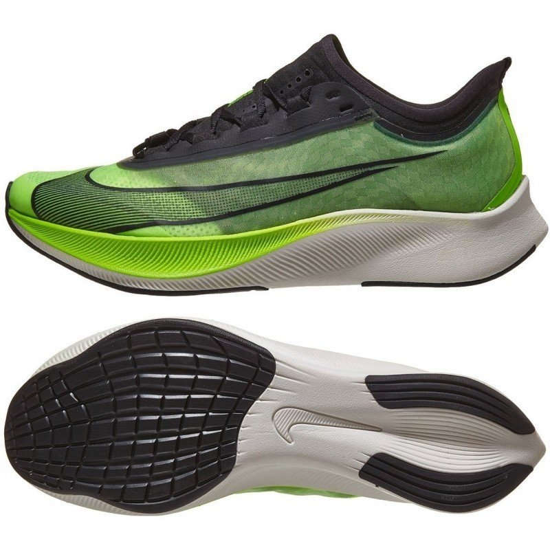 chaussure de running nike zoom fly 3 at8240-300 electric green / black