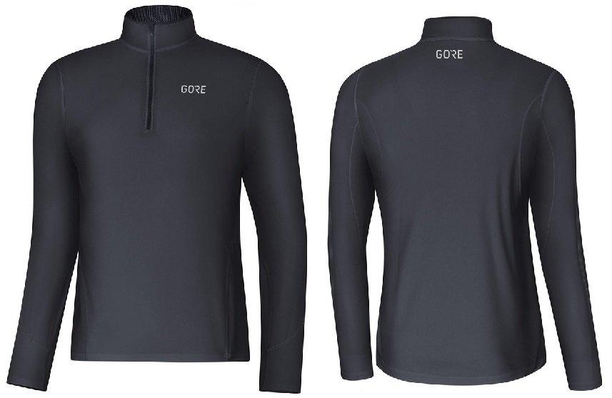 gore r3 long sleeve zip shirt 100411 9900
